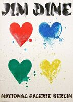 Jim Dine, 'Four Hearts, 1971 Signed National Gallerie Berlin Exhibition Poster', 1971