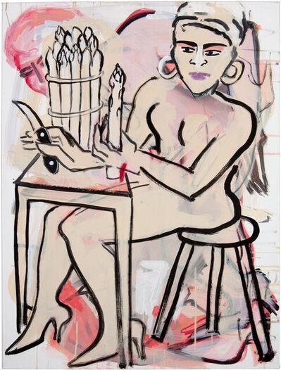 Elvira Bach, 'Spargelschälerin', 2012