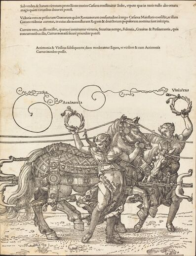 Albrecht Dürer, 'The Triumphal Chariot of Maximilian I (The Great Triumphal Car) [plate 6 of 8]', 1522