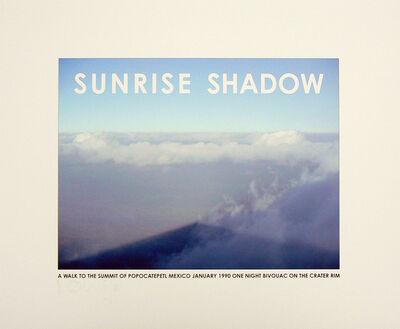 Hamish Fulton, 'Sunrise Shadow. Mexico', 1990