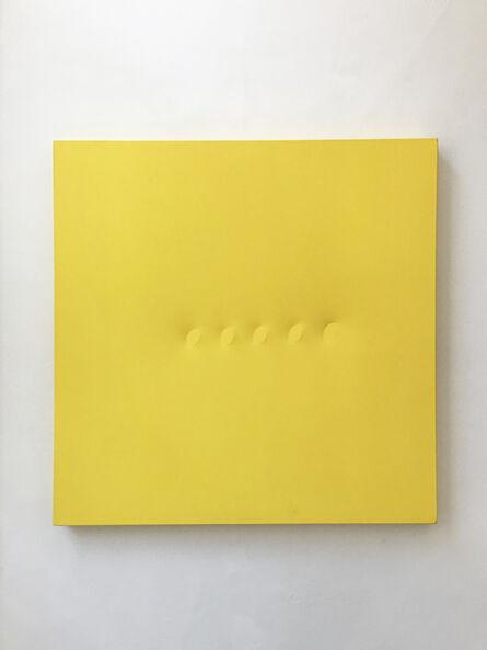 Turi Simeti, 'Sei ovali gialli', 2018