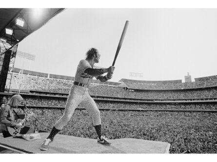 Terry O'Neill, 'Elton John at the Dodgers Stadium LA', 1975