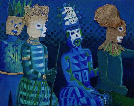 Joe Caruso, 'Masquerade in Blue', 2021