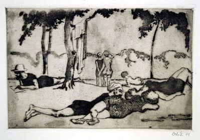 Emil Orlik, 'Am Gänsehäufel in Wien', 1911