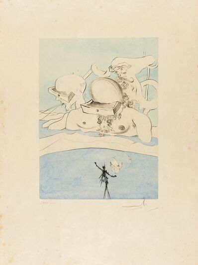 Salvador Dalí, 'Flung out like a Fag-end  by the Big-wigs (Field 74-8A; M&L 668d)', 1974