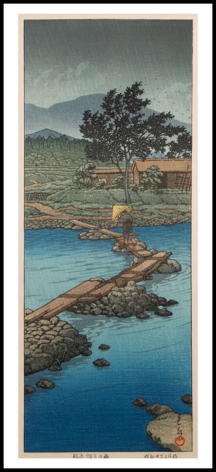 Kawase Hasui, 'Sudden Rain at Shiobara', 1955