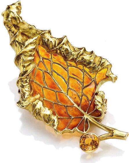 René Lalique, 'Leaf Brooch', circa 1900