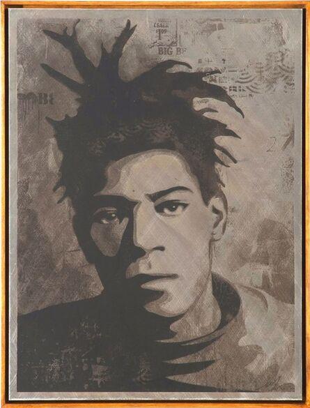 Shepard Fairey, 'Basquiat Canvas Print Metal', 2010