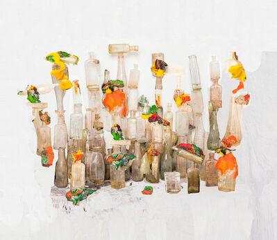 Nico Krijno, 'Playdough and Bottles', 2016