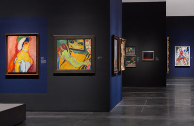 """'Installatio view, """"Expressionism in Germany and France: From Van Gogh to Kandinsky,"""" Los Angeles County Museum of Art'"""