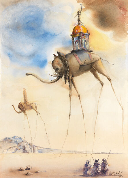 Salvador Dalí, 'Elephant Spatiaux ', 1965