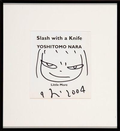 Yoshitomo Nara, 'Untitled Drawing, from Slash with a Knife', 2004