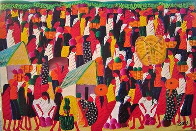 Laurent Casimir, 'Market Scene', ca. 1980