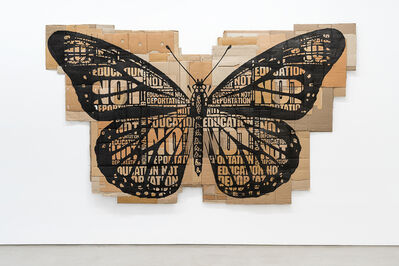 Andrea Bowers, 'Papillon Monarque', 2014