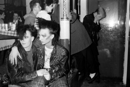 Homer Sykes, 'Boy George and friend Wilf Rogers, Blitz Club New Romantic, London', 1980
