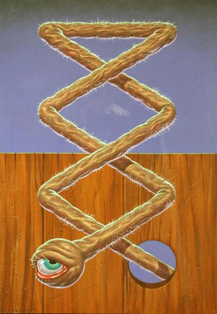 Todd Schorr, 'Eyeball Zigzag', 1991