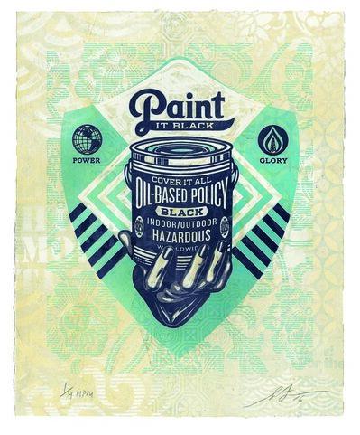 Shepard Fairey, 'Paint It Black (Hand)', 2016