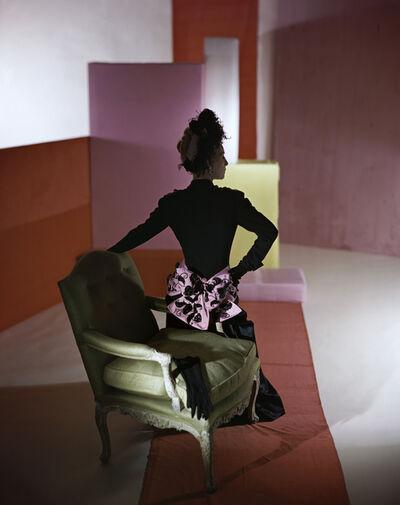 Horst P. Horst, 'Dinner suit and headdress by Schiaparelli', 1947