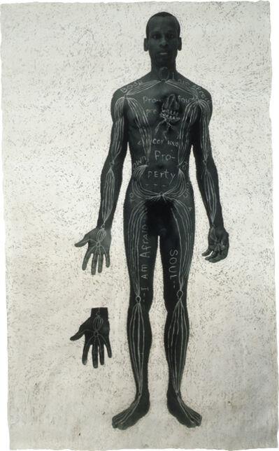 Lesley Dill, 'Hindu Healing Diagram', 1996
