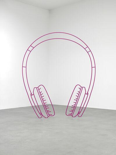 Michael Craig-Martin, 'Headphones (magenta)', 2019