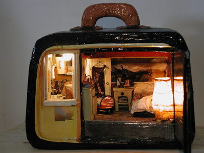 Paola Risoli, 'Travelling bedroom', 2002