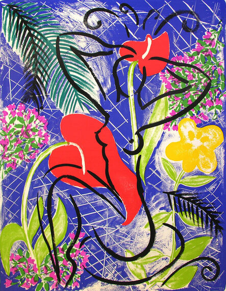 Stefan Szczesny, 'Red Flowers', 1999
