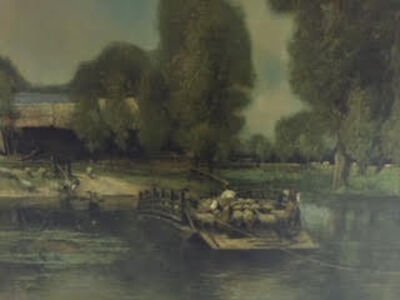 From the School of John Constable (British), '19th century landscape original oil painting (detail 1)'