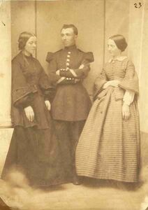 Jean-Baptiste Frénet, 'Portrait of Two Women and a Military Man', 1850s/1850s