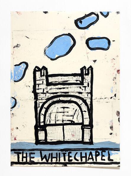 Rose Wylie, 'Whitechapel, Blue Clouds', 2017