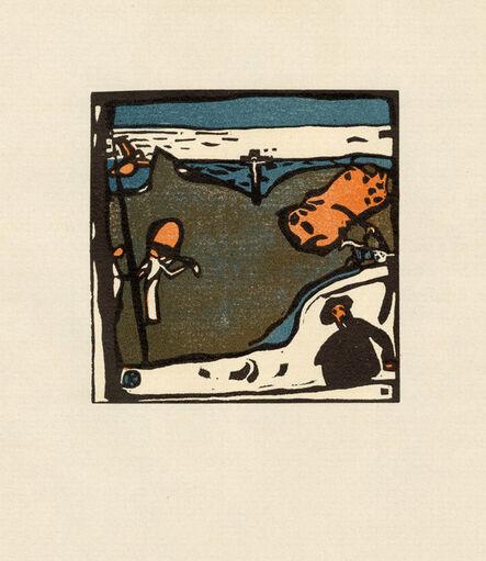 Wassily Kandinsky, 'Landschaft mit Figuren und Kruzifix', 1911