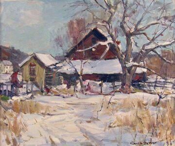 Carl Peters, 'Winter Farm', ca. 1960