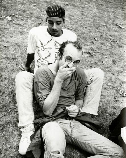 Andy Warhol, 'Andy Warhol, Photograph of Keith Haring & Juan Rivera in the Park, 1986', 1986