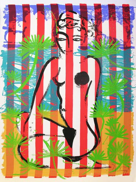 Stefan Szczesny, 'Nude on Red Stripes', 1999