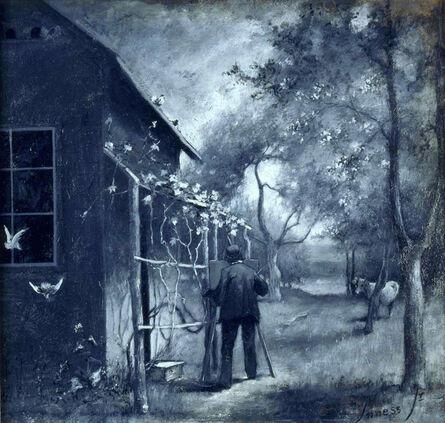 George Inness Junior, 'George Inness Sketching Outside His Montclair Studio ', ca. 1889