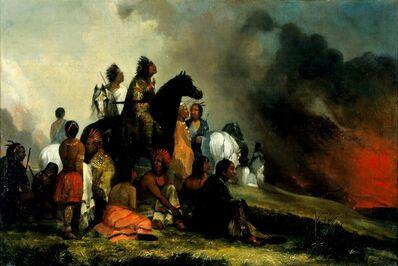 'The Prairie Fire', circa 1850