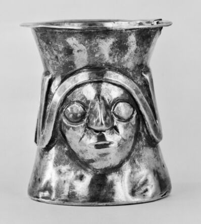 'Ceremonial Cup with Faces and a Stylized Snake', 900-1100