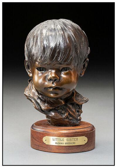 Glenna Goodacre, 'Glenna Goodacre Little Sister Bronze Sculpture Signed Full Round Child Portarit', 1978