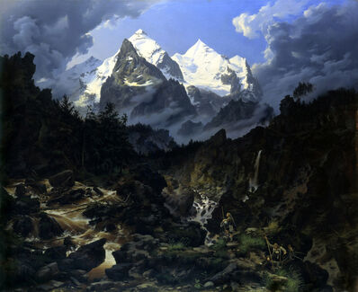 Karl Eduard Biermann, 'The Wetterhorn,', 1830