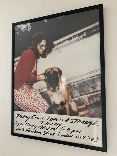 """Tracey Emin, '""""LOVE IS A STRANGE THING"""" ', 2000"""