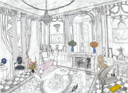 Francisca Ahlers, 'The Peacock in the Lounge', 2019