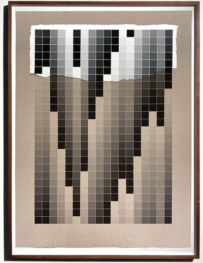 Analía Saban, 'Transcending Pigment from Paint to Canvas, from Canvas to Paint (Black and White) No. III', 2020