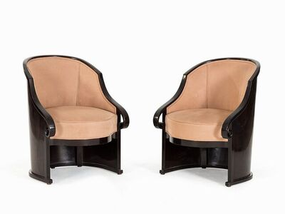 Josef Hoffmann, 'Pair of  Beech Club Chair,', ca. 1913