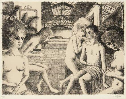 Paul Delvaux, 'The Lover [Jacob 50]', 1971