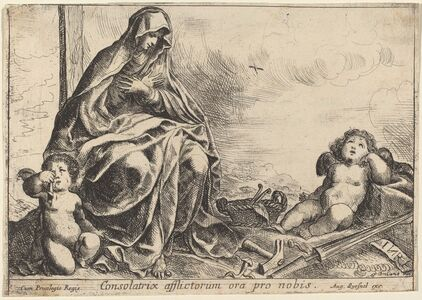 Pierre Brebiette, 'Virgin Bowing to Instruments of the Passion'