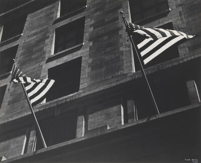 Ilse Bing, 'FLAGS, FIFTH AVENUE, FOURTH OF JULY, NEW YORK', 1936