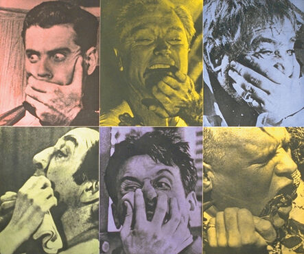 John Baldessari, 'Six Colorful Gags (Male)', 1991