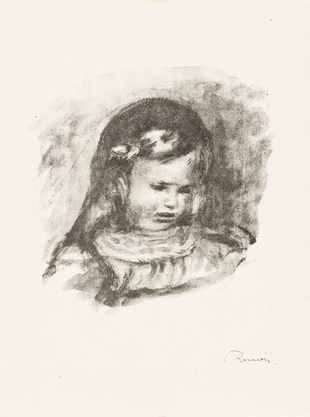 Pierre-Auguste Renoir, 'Claude Renoir, La Tête Baisée, from L'Album des Douze Lithographies Originales de Pierre-Auguste Renoir (Delteil 39)', 1904