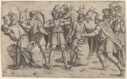 Giovanni Antonio da Brescia after Baldassare Peruzzi, 'Discovery of Joseph's Cup', ca. 1521/1525