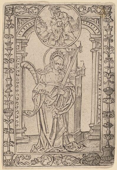 Master S, 'Saint Barbara'