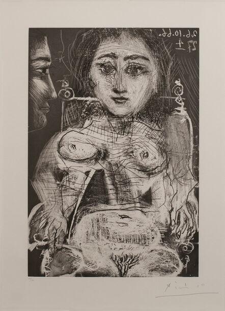 Pablo Picasso, 'Femme assise dans un fauteuil [Portrait of Jacqueline au fauteuil]', 1966